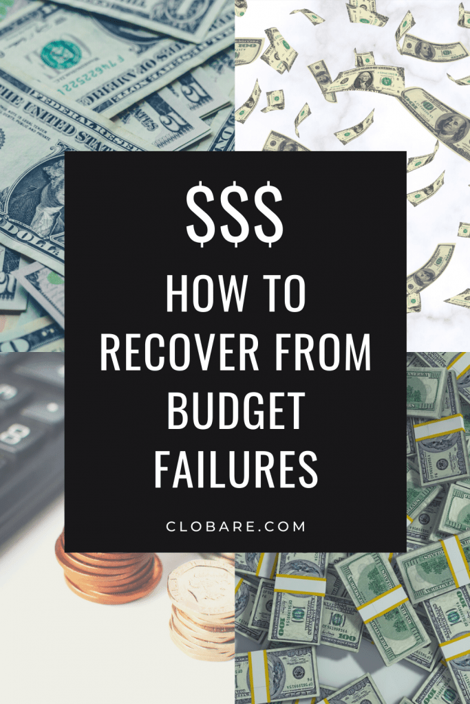 Recover from budgeting failures