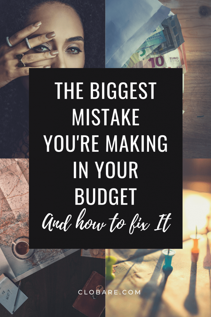 The biggest mistake you're making in your budget