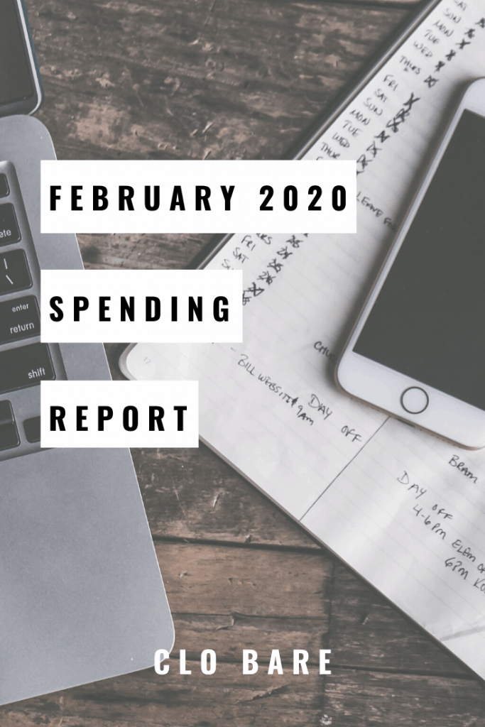 February 2020 Spending Report | Clo Bare