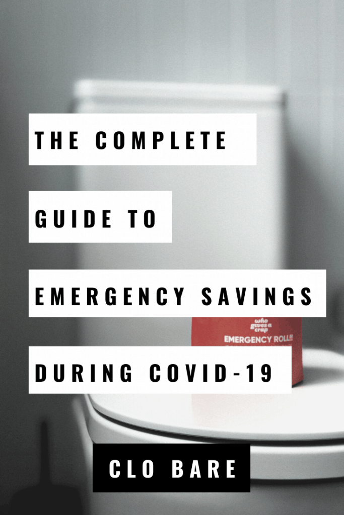 how to start an emergency fund during COVID-19