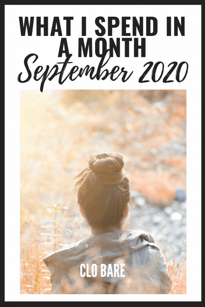 What I Spend in a Month September 2020